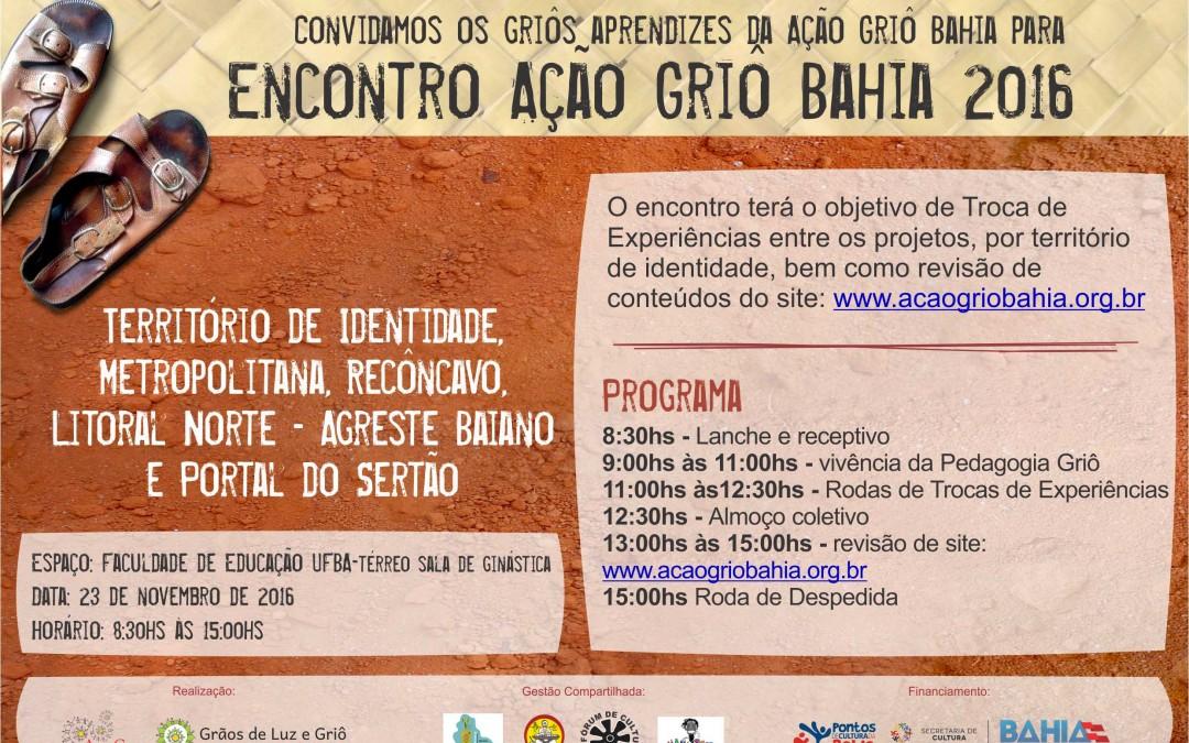 Encontro Ação Griô Bahia 2016